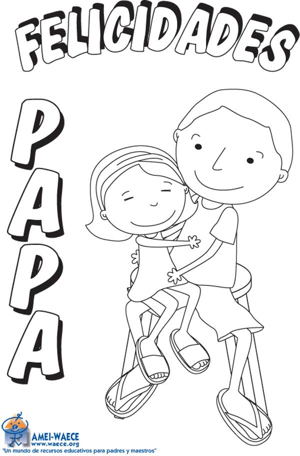 Dibujos colorear cumplea os papa ideas creativas sobre - Dibujos para postales navidenas ...